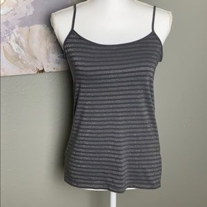 5/$20 🌸 Loft Camisole Grey with Silver Stripes